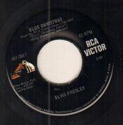 7inch Vinyl Single - Elvis Presley - Blue Christmas - Original US / Picture Sleeve