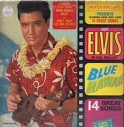 LP - Elvis Presley - Blue Hawaii - Mono USA + RED STICKER!!