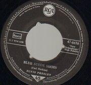 7inch Vinyl Single - Elvis Presley - Blue Suede Shoes - Picture Sleeve