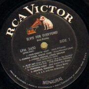 LP - Elvis Presley - Elvis For Everyone! - MONAURAL USA
