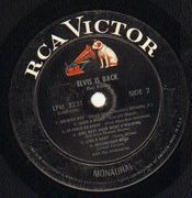 LP - Elvis Presley - Elvis Is Back! - LPM 2231 USA MONO NO STICKER