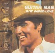 7inch Vinyl Single - Elvis Presley - Guitar Man - Picture Sleeve
