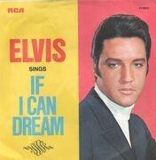 7inch Vinyl Single - Elvis Presley - If I Can Dream - Original US, Picture Sleeve, Black Label