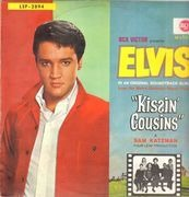 LP - Elvis Presley - Kissin' Cousins - GERMAN ORIGINAL, BLACK LABEL