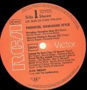 LP - Elvis Presley - Paradise, Hawaiian Style