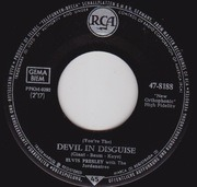 7inch Vinyl Single - Elvis Presley With The Jordanaires - (You're The) Devil In Disguise