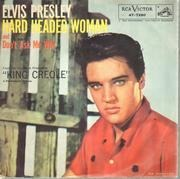 7inch Vinyl Single - Elvis Presley With The Jordanaires - Hard Headed Woman - Original US, Picture Sleeve