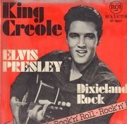 7inch Vinyl Single - Elvis Presley With The Jordanaires - King Creole - Original German, Picture Sleeve