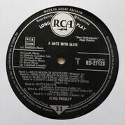 LP - Elvis Presley - A Date With Elvis - UK ORIGINAL SILVER SPOT
