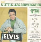 7inch Vinyl Single - Elvis Presley - A Little Less Conversation - Original German, Picture Sleeve