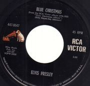 7inch Vinyl Single - Elvis Presley - Blue Christmas - Original US, Picture Sleeve