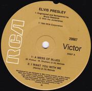 7inch Vinyl Single - Elvis Presley - Blue Elvis