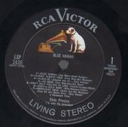 LP - Elvis Presley - Blue Hawaii - Matrix Variation