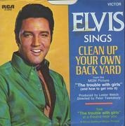 7inch Vinyl Single - Elvis Presley - Clean Up Your Own Back Yard / The Fair Is Moving On