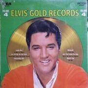 LP - Elvis Presley - Elvis' Gold Records Volume 4 - TAN LABELS