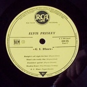 LP - Elvis Presley - G.I. Blues - original french