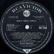 LP - Elvis Presley - Girls! Girls! Girls! - UK SILVER SPOT MONO