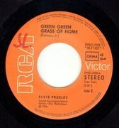 7inch Vinyl Single - Elvis Presley - Green Green Grass Of Home / Make The World Go Away