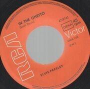 7inch Vinyl Single - Elvis Presley - In The Ghetto - Original German, Picture Sleeve