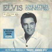 7inch Vinyl Single - Elvis Presley - Love Letters / Come What May - german original