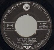 7inch Vinyl Single - Elvis Presley - Love Me Tender - Original German, Company Sleeve