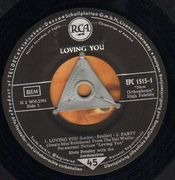 7inch Vinyl Single - Elvis Presley - Loving You - GERMAN ISSUE