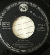 7inch Vinyl Single - Elvis Presley - O Sole Mio (It's Now Or Never) / Make Me Know It