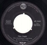 7inch Vinyl Single - Elvis Presley - One Night - Original German, Company Sleeve