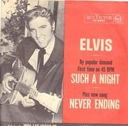 7inch Vinyl Single - Elvis Presley - Such A Night - Original US, Picture Sleeve