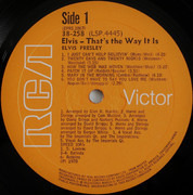 LP - Elvis Presley - That's The Way It Is - South Africa