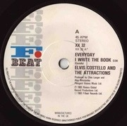7'' - Elvis Costello & The Attractions - Everyday I Write The Book