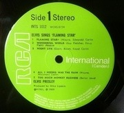 LP - Elvis Presley - Elvis Sings 'Flaming Star'