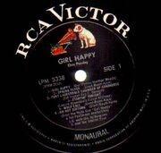 LP - Elvis Presley - Girl Happy - WHITE TOP MONO USA
