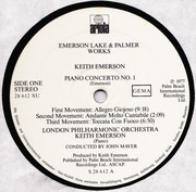 Double LP - Emerson, Lake & Palmer - Works Volume 1 - Embossed Cover