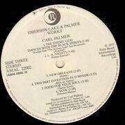 Double LP - Emerson, Lake & Palmer - Works Volume 1 - Trifold