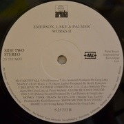 LP - Emerson, Lake & Palmer - Works Volume 2 - Embossed cover