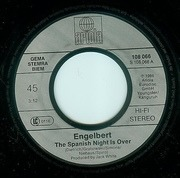 7'' - Engelbert Humperdinck - The Spanish Night Is Over