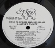 LP - Eric Clapton - Another Ticket - Promo USA