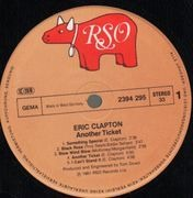 LP - Eric Clapton - Another Ticket