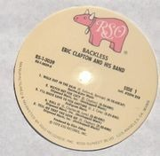 LP - Eric Clapton - Backless - embossed and textured cover