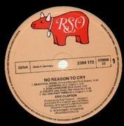 LP - Eric Clapton - No Reason To Cry - embossed cover