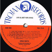 LP - Ernie Smith - Life Is Just For Living