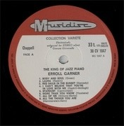 LP - Erroll Garner - The King Of Jazz Piano - 16 Hits