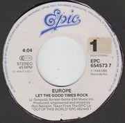 7inch Vinyl Single - Europe - Let The Good Times Rock