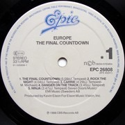 LP - Europe - The Final Countdown - Embossed
