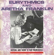 12inch Vinyl Single - Eurythmics & Aretha Franklin - Sisters Are Doin' It For Themselves - .. FOR THEMSELVES