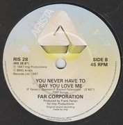 7inch Vinyl Single - Far Corporation - Sebastian / You Never Have To Say You Love Me