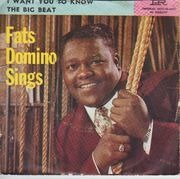 7inch Vinyl Single - Fats Domino - The Big Beat / I Want You To Know - Original US. Picture Sleeve