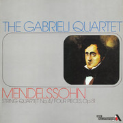 LP - Mendelssohn-Bartholdy - String Quartet No. 4, Op. 44 No.2. Four Pieces. Op. 81