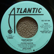 7inch Vinyl Single - Foreigner - Head Games - SP